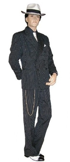 We Have Over 2 Dozen Vintage Double Breasted Pinstriped Suits In Stock Various Colors Sizes 36 Through 44 Pictured